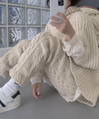 【数量限定】Cable  knit Pants