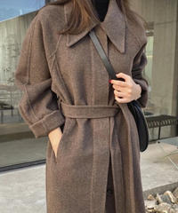 【予約販売のみ】handmade collar coat byF.DOMmade  (Brown)