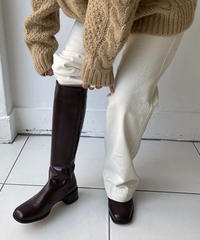 Square long boots (3color)
