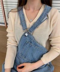 Bottun cut knit (4color)