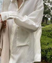 Pocket Silky shirts (2color)