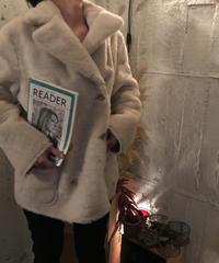 reversible mouton coat