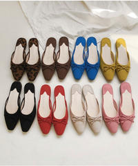 Ribbon suede slipper (8color)