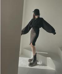 【セット割】クロップドスウェット+フロントスリットスカート