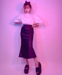 【予約販売】Emboss Flare Skirt 型押しフレアスカート