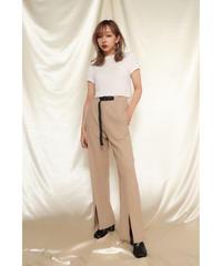 Front Slit Belt Pants