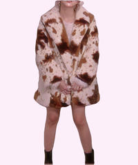 Holstein Faux Fur Coat  ホルスタインファーコート