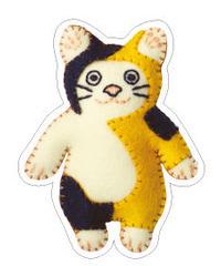 [三毛猫] のシール
