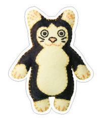 [白黒猫] のシール