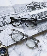 【2color】square frame clear sunglasses