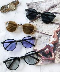 【4color】square boston sunglasses