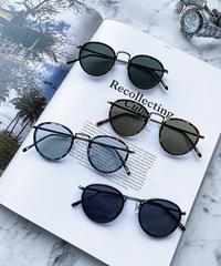 【4color】round boston sunglasse