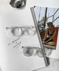 【2color】square frame sunglasses