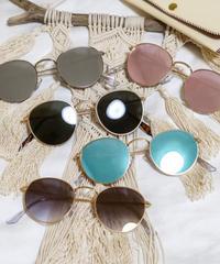 【5color】round  metal sunglasses(50mm)