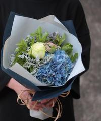6月の花贈り 紫陽花のブーケ (長崎市内近郊便)6月5日~30日お届け・ご来店受け取り