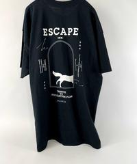 """ ESCAPE -Tribute to fox capture plan- "" ART WORK ポケット Tシャツ【ブラック×ホワイト】"