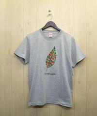 リーフTシャツ グレー