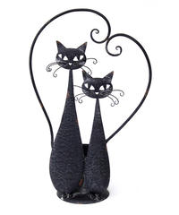 Iron cat  planter (ブラック ランデブー)