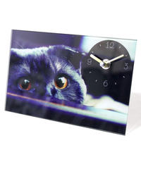 GLASS  ART  PICTURE  CLOCK (CAT C)