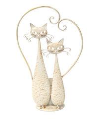 Iron cat  planter (ホワイト ランデブー)