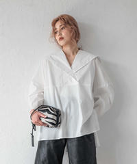 フラップシャツ / WHITE