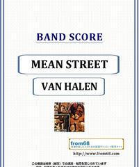 ヴァン・ヘイレン(VAN HALEN) / MEAN STREET (ミーン・ストリート) バンド・スコア(TAB譜) 楽譜 from68