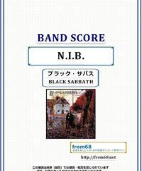 ブラック・サバス(BLACK SABBATH) /  N.I.B. バンド・スコア(TAB譜) 楽譜
