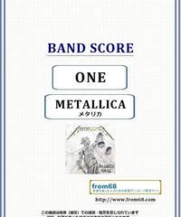 メタリカ(METALLICA)  / ONE(ワン) バンド・スコア(TAB譜) 楽譜