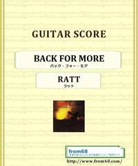 ラット(RATT) / バック・フォー・モア(BACK FOR MORE) ギター・スコア(TAB譜) 楽譜