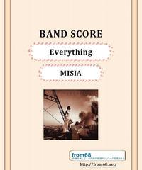 MISIA(ミーシャ) / Everything  バンド・スコア(TAB譜)  楽譜