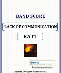 ラット(RATT) / LACK OF COMMUNICATION バンド・スコア(TAB譜) 楽譜 from68
