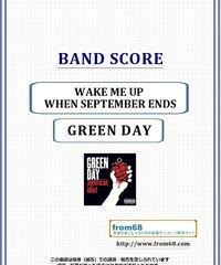グリーン・デイ(GREEN DAY) / WAKE ME UP WHEN SEPTEMBER ENDS バンド・スコア(TAB譜) 楽譜 from68