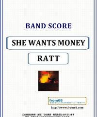 ラット(RATT) / SHE WANTS MONEY バンド・スコア(TAB譜) 楽譜 from68