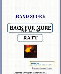 ラット(RATT) / バック・フォー・モア(BACK FOR MORE) ギター・スコア(TAB譜) 楽譜 from68