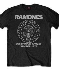RAMONES: first world tour 1978 (ユニセックス バンドTシャツ) 【HV00-T05-01-S~L】