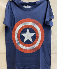 MARVEL COMICS : captain america distressed (for unisex t shirts)【HV00-T11-02-S~L】