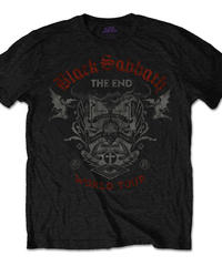 BLACK SABBATH : the end reading skull (for unisex t shirts) 【HV00-T07-02-S~L】