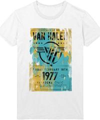 VAN HALEN: Pasadena '77  (ユニセックス バンドTシャツ) 【HV02-T14-01-S~XL】