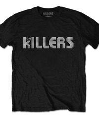 THE KILLERS : dots logo (ユニセックス バンドTシャツ) 【HV02-T06-01-S~XL】