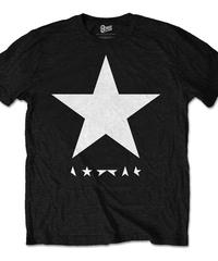 DAVID BOWIE : black star (white star on black) (ユニセックス バンドTシャツ) 【HV00-T02-03-S~L】