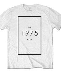 THE 1975 : logo white (ユニセックス バンドTシャツ)  【HV02-T01-08-S~XL】
