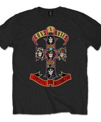 GUNS N' ROSES :  appetite for destruction (for unisex t shirts)【HV00-T08-02-S~L】