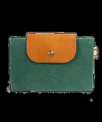 01 はちのす  (カードケース) 染色 グリーン