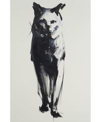 彫刻家・中里勇太キャンバス作品・猫