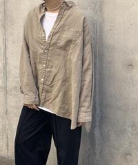 UT201SH030 リネン ワイドシャツ