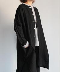TS200JK084 ヴィンテージリネン クルーネックロングジャケット【size 1】