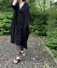UT200OP046 フレンチリネン シャツドレス【001/クロ】