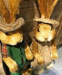 藁帽子ウサギ