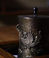 白銅 茶釜 鳳凰
