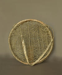Handwoven Tree Bark Basket Round